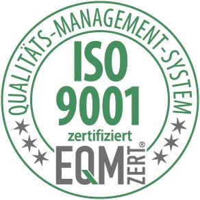 ISO 9001 zertifiziert EQM Qualitäts-Management-System